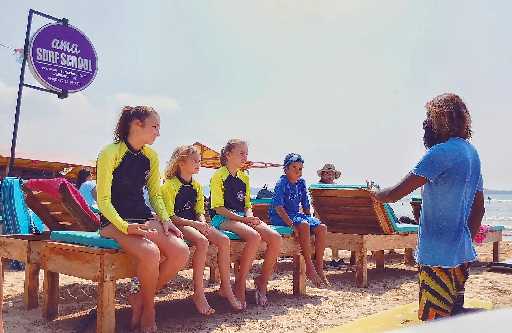 children surf lesson